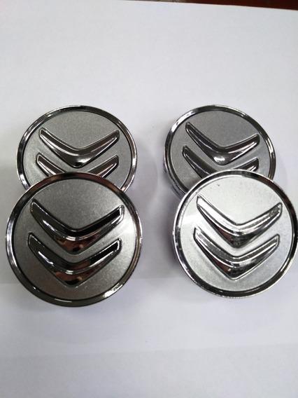 04 Calotinhas Citroen Ds3 C4 Hatch C4 Picasso Grand Prata #2