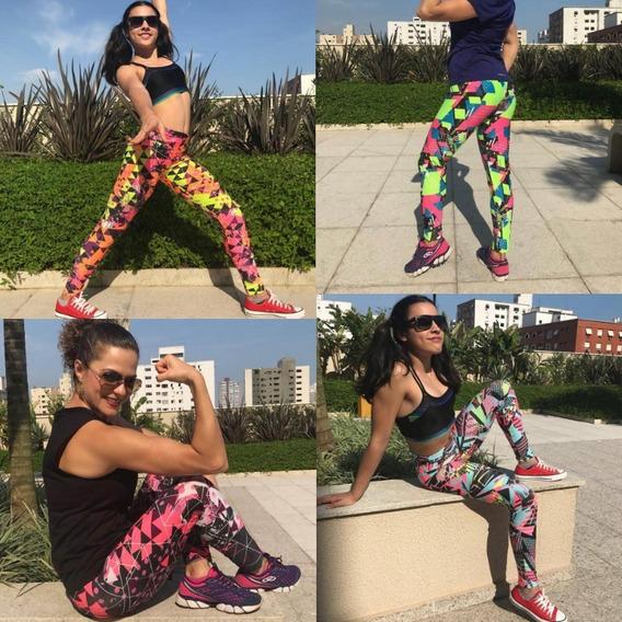 Kit 4 Calça Legging Estampada Fitness Feminina Atacado