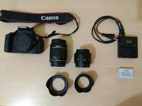 Câmera Canon T5i + Lentes 18-55mm E 50mm Usado