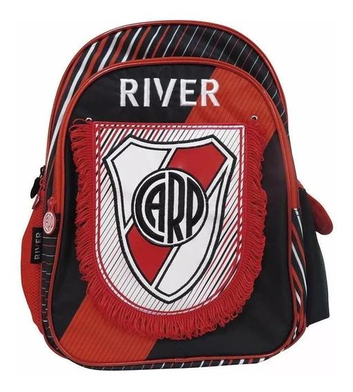 Mochila De Espalda River Plate Con Banderin 16 PuLG Cresko