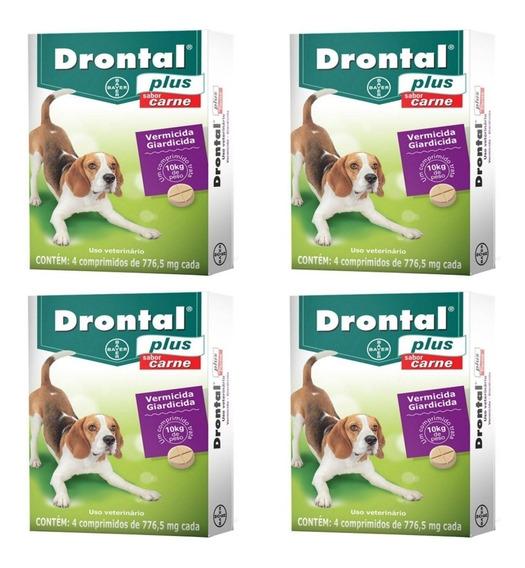 Drontal Plus Carne 10kg 4 Comprimidos- 4 Unidades