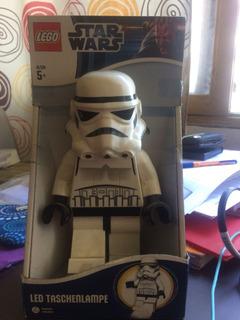 Starwars Storm Trooper Lego Lampara De Mesa