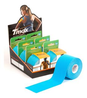 Bandagem Elástica Adesiva Funcional Kinesio Tmax Azul Anvisa