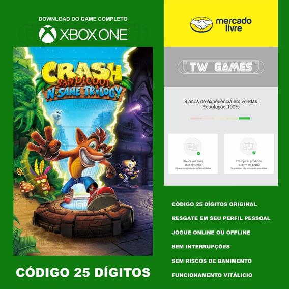 Crash N. Sane Trilogy Codigo 25 Digitos Xbox One Fat S X