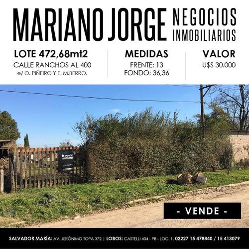 Lote En Calle Ranchos Al 400