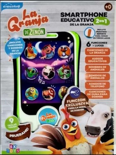 Smartphone Celular Educa Granja Zenon 2 En 1  - Lanus