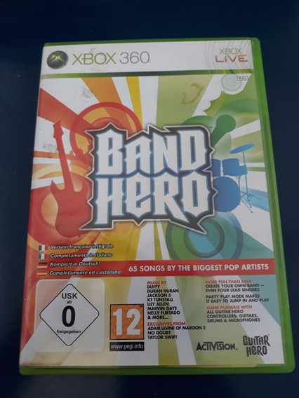 Jogo Band Hero Xbox 360 Original Completo Pal