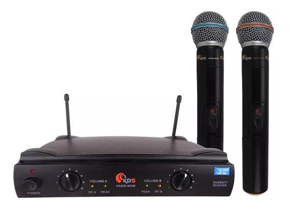 Microfone Duplo Sem Fio Kadosh K402m Uhf - Planeta Music
