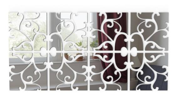 Espelho Decorativo Acrílico 1,2x0,60m Sala Quarto Grande Tri