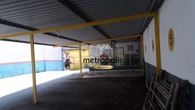 Galpão Para Alugar, 500 M² Por R$ 10.000/mês - Santo Antônio - São Caetano Do Sul/sp - Ga0068