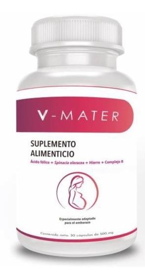 V-mater Suplemento Multivitaminas Ácido Fólico Embarazo