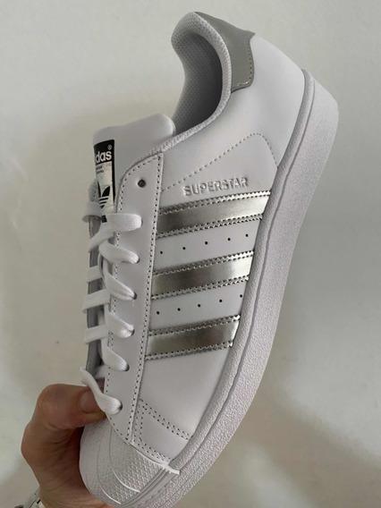 Zapatillas Superstar Lineas Plateadas N39