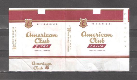 American Club Cigarrillo Marquilla Caja Antigua Nº1