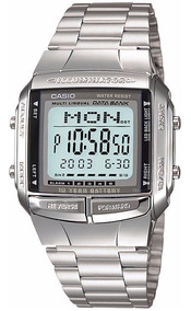 Relógio Casio Db-360 Databank 30 Tel 5 Alarmes Wr Prata