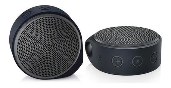 Caixa De Som Bluetooth Logitech X100 Cinza Nova Lacrada