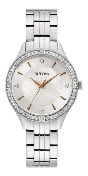 Reloj Bulova Cristales 96l283 Para Dama Original