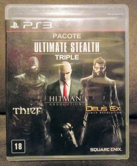 Hitman Absolution + Thief + Deus Ex Mídia Física