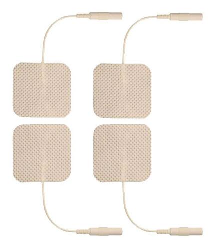 Electrodos Para Tens Ems  Cuadrados 5x5 Cm X 4 Unidades