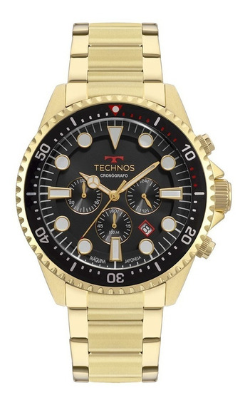 Relógio Technos Masculino Dourado Skymaster Js25cd/4c