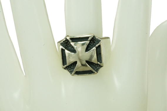 Anel Cruz Malta Maciça (l) Prata 925 Maravilhoso!!