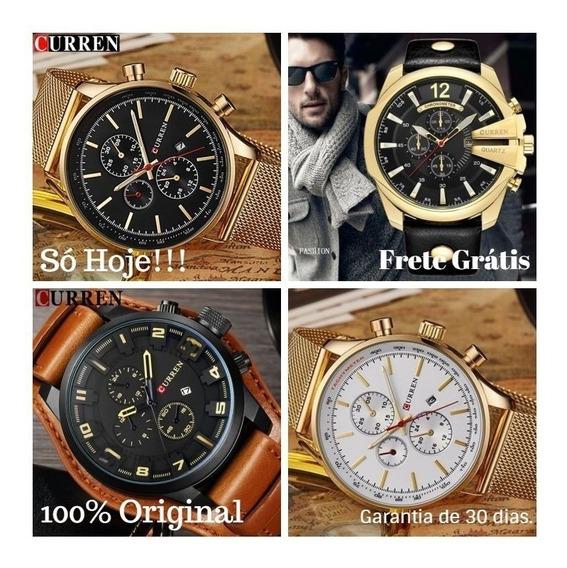 Relógio Masculino Curren Novo Original Quartz Pulso Luxo To