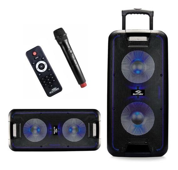 Caixa De Som Amplificada Sumay Titan 600w Rms Bluetooth Festinhas, Igrejas, Porta De Loja Potente