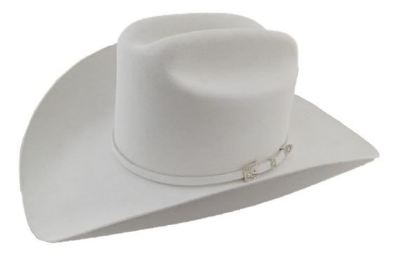 Sombrero Texana 6 X Marca Stetson Blanco Lana Pelo Conejo