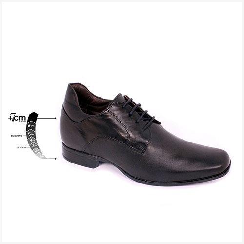 Zapato Formal Fashion Negro Max Denegri +7cms De Altura