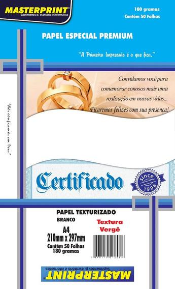 Papel Verge Branco A4 180g 50 Fls Masterprint