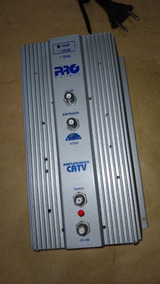 Amplificador Sinal Antena Catv Pro Eletronic 35db Pqap-6350