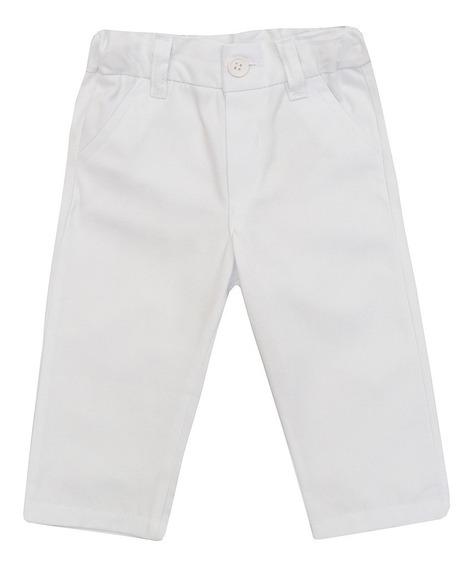 Calça Bebê Masculino Sarja Branco