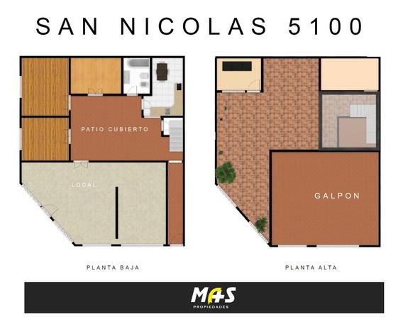 2 Plantas Local, Garage, 5 Habitaciones Y Galpon!!! Mixtura