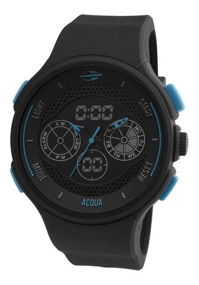Relógio Mormaii Mo160323al/8a Preto Analógico Digital Azul