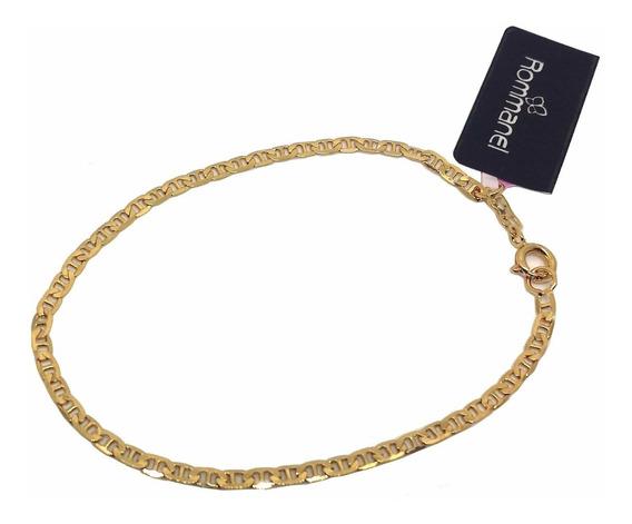 Pulseira Unissex Fininha Fol. Ouro 18k Rommanel 550428 19cm