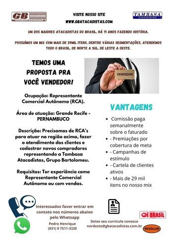 Vaga Para Representação Grande Recife