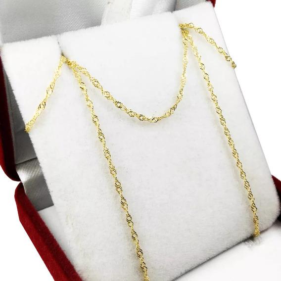 Cadena Oro 18 K Singapur 0.8 Grs 45 O 40 Cm Mujer Niña
