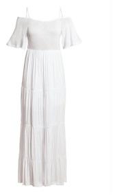 Vestido Branco Longo Feminino Verão Praia Reveillon