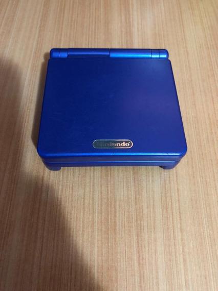 Game Boy Advance Sp - Azul Marinho - Em Ótimo Estado!