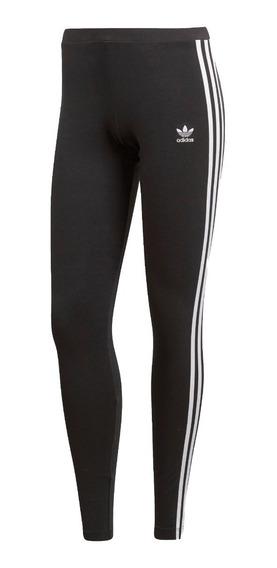 adidas Original Calza Lifestyle Mujer 3 - Stripes Negro Fkr