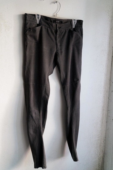 Giesso Pantalón Jean Gris Oscuro Tiro Alto Skinny ( Chupín )