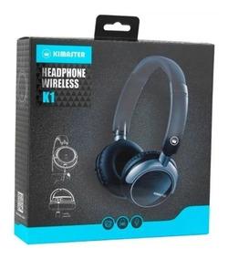 Fone Headphone Bluetooth Kimaster K1 Kb1 Fm Cartão Sd Top