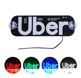 Uber Led Placa 45 Leds Varias Cores Com Ventosa Vidro