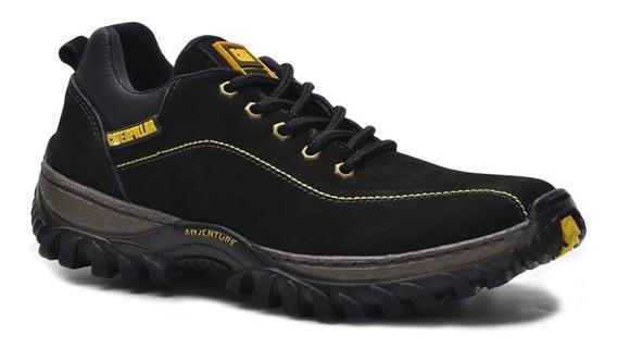 Sapato Sapatênis Tênis Couro Legítimo Caterpillar + Brinde
