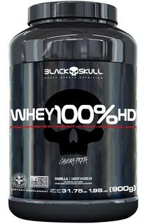 Whey 100%hd Black Skull 900g - Whey Conc/isolado/hidrol/bcaa