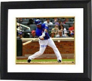 Athlon Ctbl-bw16532 Juan Lagares Firmado New York Mets Foto