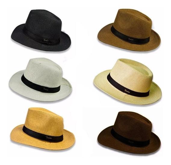 2 Chapéus Panamá Aba Larga Social Clássico Importado