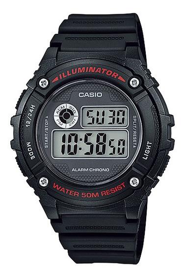Relógio Casio Standard Masculino Digital Preto W-216h-1avdf