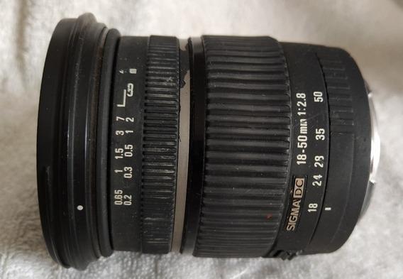 Lente Sigma 18/50 2.8 Canon