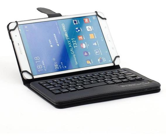 Solo Estuche Note 8 Samsung Teclado Negro Resistente Tablet