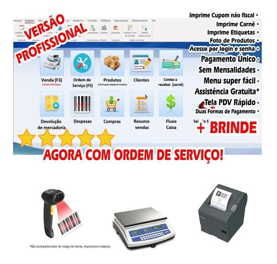 Sistema Completo Assistência Técnica Com Os, Vendas, Estoque